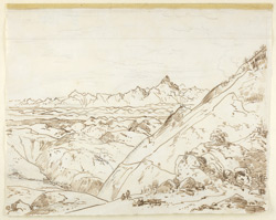 View of the snows from Garhwal (U.P.). c. 26 April 1789